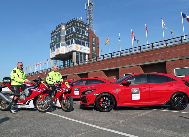 Honda UK Cars and Bikes with travelling marshals