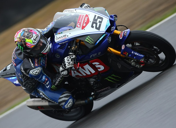 Josh Brookes in action on the McAMS Yamaha fuelled by Monster Energy R1