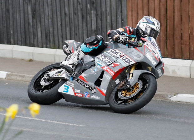 Michael Dunlop in action on the Carl Cox Motorsport-backed MD Racing PTR Honda CBR600RR