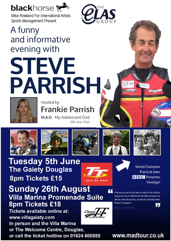 Steve Parrish Isle of Man TT 2018 show poster