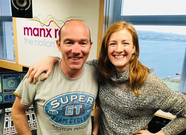 Manx Radio TT presenters Chris Kinley and Christy DeHaven