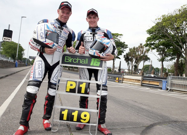 Ben and Tom Birchall with their historic pitboard. Photo Stephen Davison / Pacemaker Press Intl