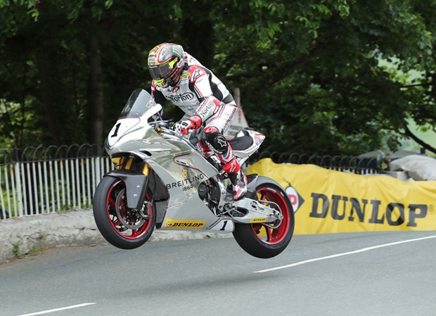 John McGuinness, Norton, Ballaugh Bridge. Photo Dave Kneen