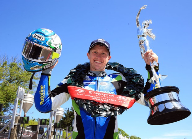 Dean Harrison wins the 2018 Monster Energy Supersport TT Race 2 in a new record time. Photo Stephen Davison / Pacemaker Press Intl