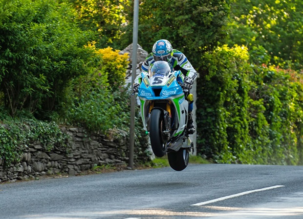 Dean Harrison in qualifying for the 2018 Isle of Man TT. Photo Tony Goldsmith