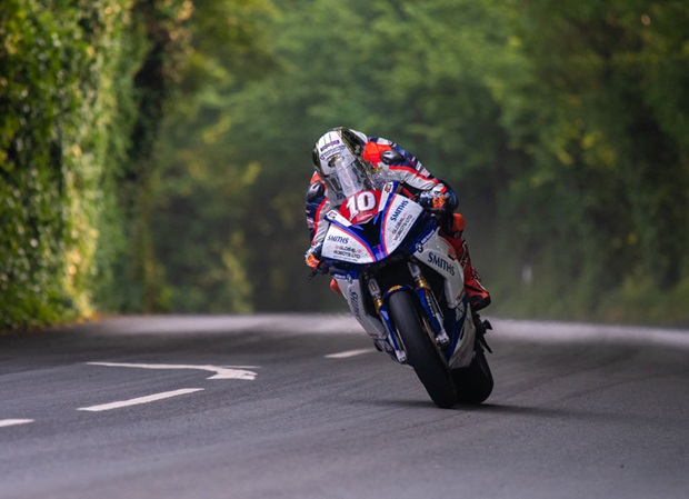 Peter Hickman, superstock. Photo by Tony Goldsmith