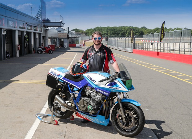 Jay Lawrence with the Carl Cox Motorsport Suzuki Katana