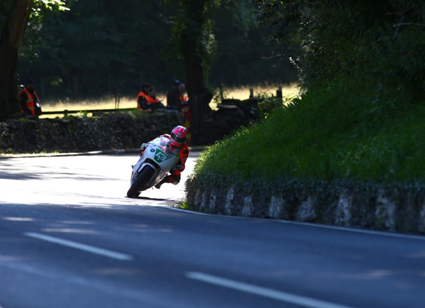 Lee Johnston at Black Dub during the Dunlop Lightweight Classic TT Race