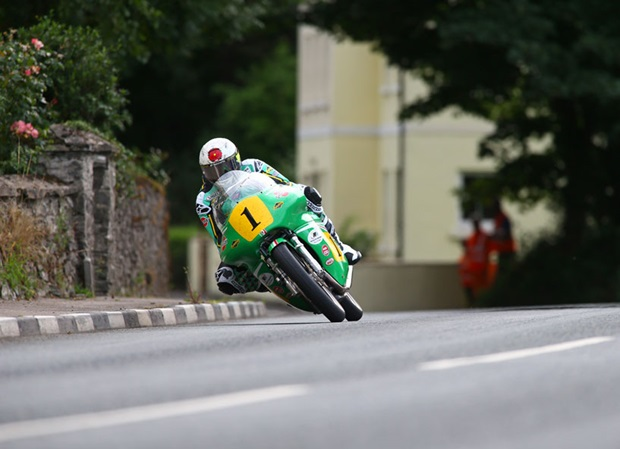 John McGuinness on the Winfield Paton. Photo credit Kevin Clague