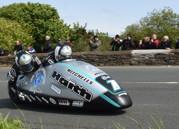 Ben and Tom Birchall secured the ninth sidecar TT win on Monday, 3rd June 2019. Photo RP Watkinson