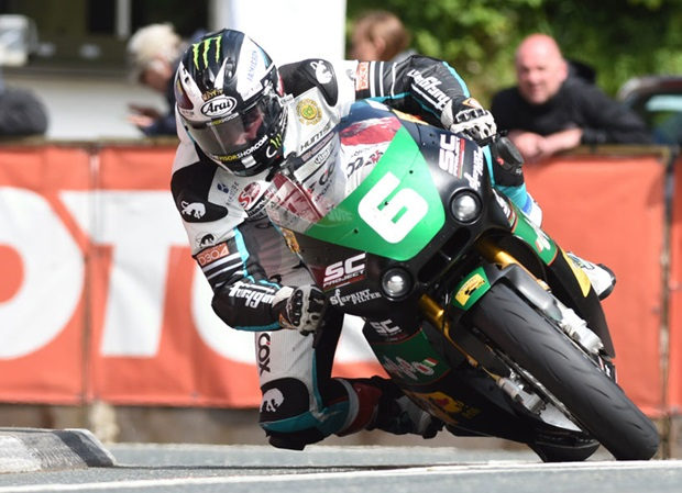 Michael Dunlop takes win number 19 in the Bennetts Lightweight TT. Photo RP Watkinson
