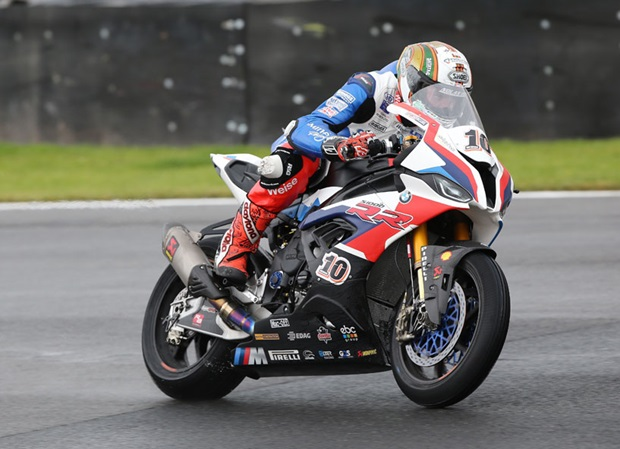 Peter Hickman at World Superbike Championship round