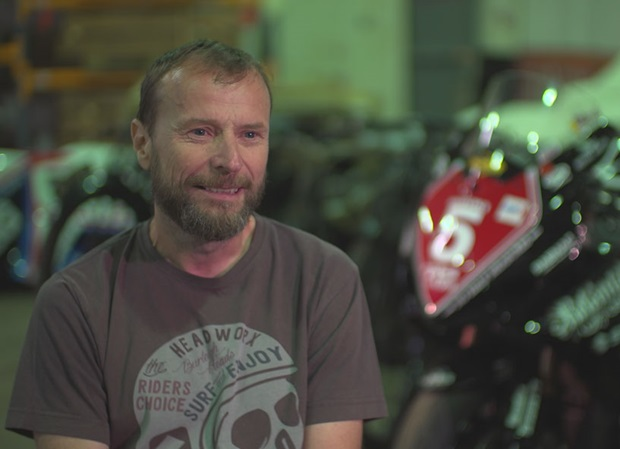 Bruce Anstey with the 2007 Superstock TT winning machine