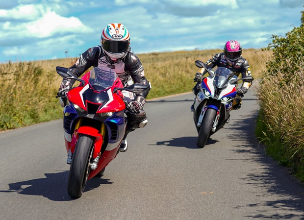 Steve Plater and James Hillier demonstrate the Diamond Races Course