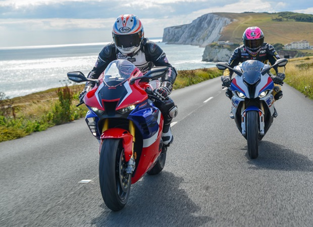 Steve Plater and James Hillier at a scenic part of the proposed race course on the Isle of Wight