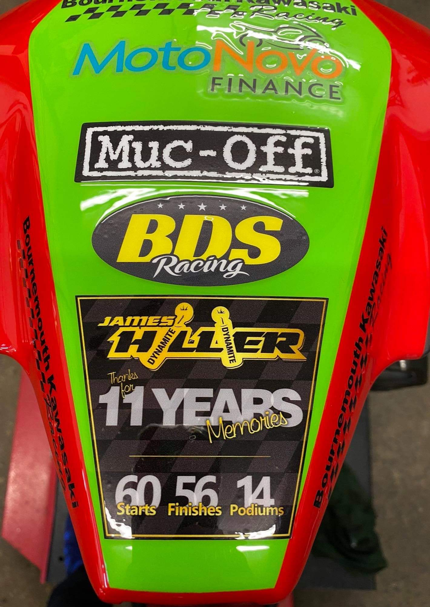 James Hillier tailpiece on John McGuinness's bike