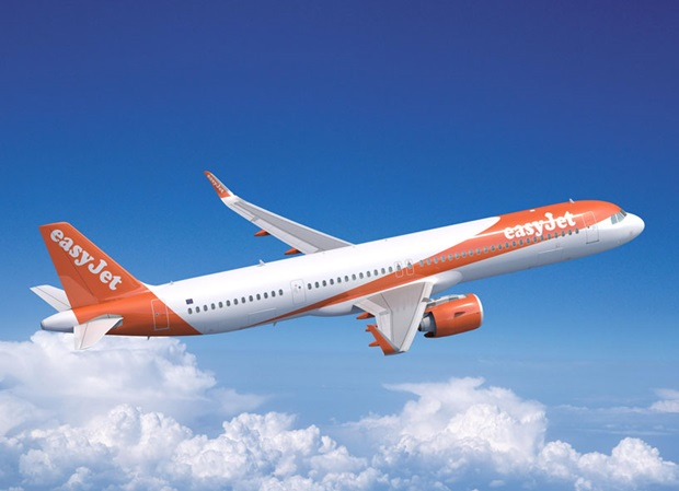 easyJet Airbus plane. Press photo from easyJet.com